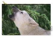 Howlling Arctic Wolf Pup Endangered Species Wildlife Rescue Carry-all Pouch