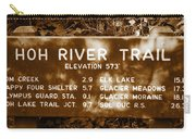 Olympic Hoh River Trail Sign Carry-all Pouch
