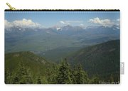 View Of The Rockies From Huckleberry Mountain Glacier National Park Carry-all Pouch
