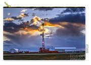Sunset Over The Oil Rigs Carry-all Pouch
