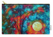 Huge Colorful Abstract Landscape Art Circles Tree Original Painting Delightful By Madart Carry-all Pouch