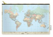 Huge Hi Res Mercator Projection Political World Map   Carry-all Pouch
