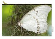 Huge White Morpho Butterfly Carry-all Pouch