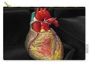 Human Heart On Black Velvet Carry-all Pouch