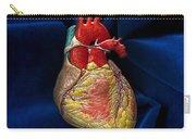 Human Heart On Blue Velvet Carry-all Pouch