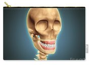 Human Skeleton Showing Teeth And Gums Carry-all Pouch by Stocktrek Images