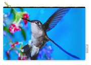 Hummer And Flowers On Acrylic Carry-all Pouch