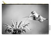 Hummingbird Black And White Carry-all Pouch