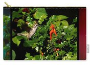 Humming Bird Honeysuckle Carry-all Pouch