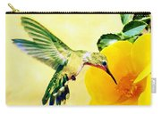Hummingbird And California Poppy Carry-all Pouch