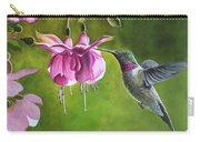 Hummingbird And Fuschia Carry-all Pouch