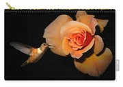 Hummingbird And Orange Rose Carry-all Pouch