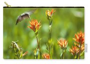 Hummingbird And Paintbrush Flower Carry-all Pouch
