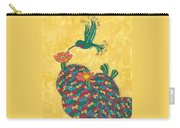 Hummingbird And Prickly Pear Carry-all Pouch