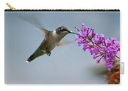Hummingbird At Butterfly Bush Carry-all Pouch