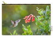 Hummingbird Dives In  Carry-all Pouch