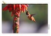 Hummingbird Feast  Carry-all Pouch
