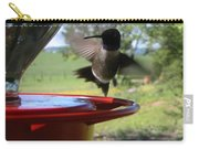 Hummingbird Flying To The Feeder Carry-all Pouch