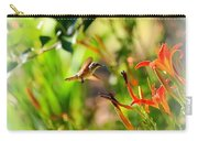 Hummingbird In The Daylilies Carry-all Pouch