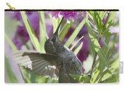 Hummingbird On A Desert Willow Carry-all Pouch