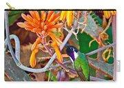 Hummingbird On Aloe In Living Desert In Palm Desert-california Carry-all Pouch