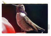Hummingbird Posing On Perch Carry-all Pouch