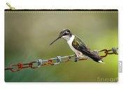 Hummingbird Resting On A Chain Carry-all Pouch