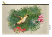 Hummingbird - Watercolor Art Carry-all Pouch