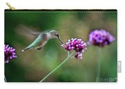 Hummingbird With Purple Verbena Carry-all Pouch