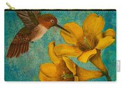 Hummingbird With Yellow Jasmine Carry-all Pouch