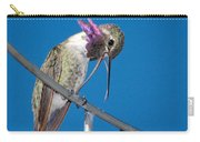 Hummingbird Yawn With Tongue Carry-all Pouch