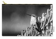 Hummy On Fence B And W Carry-all Pouch