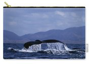 Hump Backed Whale Tail With Cascading Water Carry-all Pouch