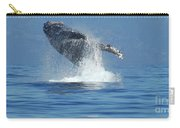 Humpback Whale Breaching Carry-all Pouch by Bob Christopher