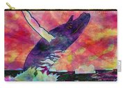 Humpback Whale Digital Color Carry-all Pouch