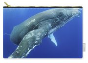 Humpback Whale Near Surface Carry-all Pouch
