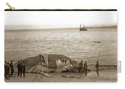 Humpback Whale On A Monterey Beach California  Circa 1896. Carry-all Pouch