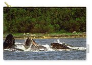 Humpback Whales Feeding Carry-all Pouch