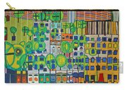 Hundertwasser The Three Skins In 3d By J.j.b. Carry-all Pouch