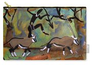 Hunters And Gemsbok Rock Art Carry-all Pouch