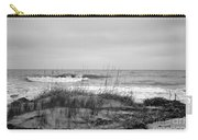 Hunting Island Beach In Black And White Carry-all Pouch