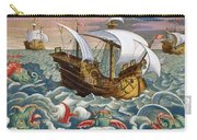 Hunting Sea Creatures Carry-all Pouch by Jan Collaert
