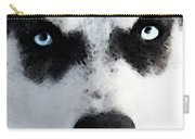 Husky Dog Art - Bat Man Carry-all Pouch