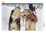 Husky Dogs Pull A Sledge  Carry-all Pouch