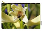 Hyacinth And Honeybee Carry-all Pouch