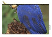 Hyacinth Macaw Eating Piassava Palm Nuts Carry-all Pouch