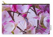 Hydrangea With Bright White Butterfly Carry-all Pouch