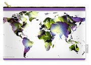 Hydrangea World Map Carry-all Pouch