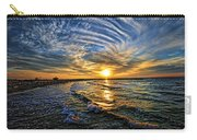 Hypnotic Sunset At Israel Carry-all Pouch by Ron Shoshani