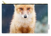 I Can't Stand The Rain  Fox In A Rain Shower Carry-all Pouch